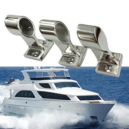 CZA Accesorio para Riel De Mano para Barco, Herrajes para Yates De Acero Inoxidable 316 De Alta Resistencia, Herrajes Marinos De Soporte De 22/25 Mm para Veleros, 3 Unidades,22mm
