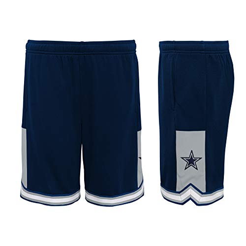 Dallas Cowboys NFL Jungen Stated Youth Mesh Shorts, Jungen, Navy, X-Large