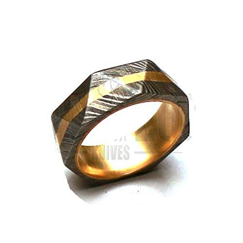 PAL 2000 MPGS-8639 Damascene stalen ring met etui in OEM kwaliteit grootte 11,5 VS - grootte 21 mm