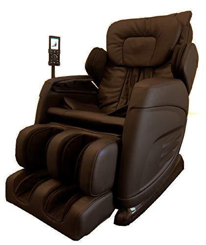 Slabway Shiatsu Massage Chair Built-in Heat and Air Massage System - Zero Gravity Neck, Back, Shoulder, Legs & Foot Massager- Deep Tissue Massage & Full Body Stretching - No More Pain, Brown