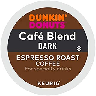 Dunkin' Donuts Cafe Blend Dark Espresso Roast Coffee single serve capsules for Keurig K-Cup pod brewers (48 Count)