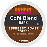Dunkin' Donuts Cafe Blend Dark Espresso Roast Coffee single serve capsules for Keurig K-Cup pod brewers (24 Count)