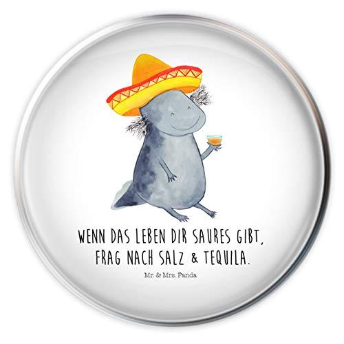 Mr. & Mrs. Panda Abflussstöpsel, Stöpsel, Waschbecken Stöpsel Axolotl Tequila mit Spruch - Farbe Weiß