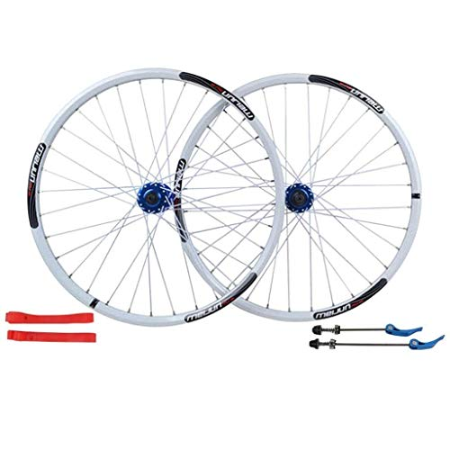 XYSQWZ 26 Inch Bike Wheelset, Double Wall MTB Rim Quick Release Hub Disc Brake Racing Road Cycling Wheels 32 Hole 8 9 10 11 Speed