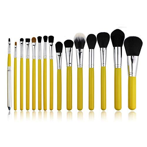 Maquillage Brush 15pcs Fiber Set Outils de maquillage