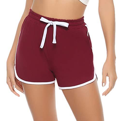 Aibrou Pantalones Deporte Corto Verano de Algodón Pantalones Deportivos para Mujer Pantalón...