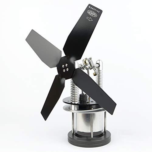 Wärmeaktivierter Lüfter für kühlere Oberfläche wie Speckstein - WARPFIVE Glasshopper Eco Stirlingmotor