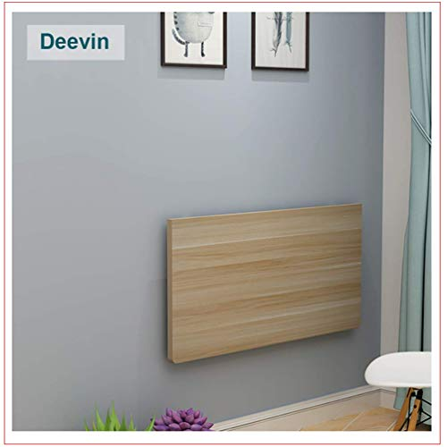 Klapptisch zur Wandmontage, Küchentisch, zusammenklappbar, zum Aufhängen, Computertisch, einfacher Schreibtisch, 3 Farben, 18 Größen