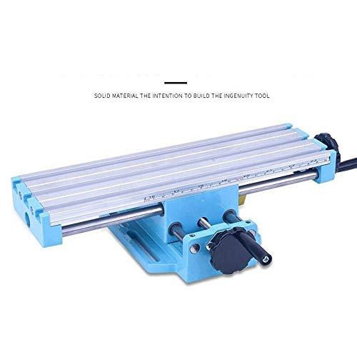 Taladradora de columna, mini taladro de mesa giratorio escala de profundidad legible mesa de perforación ajustable para taladros inclinados