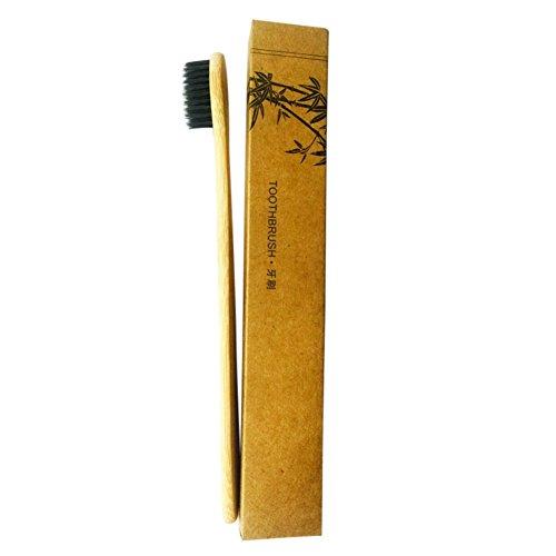Yiitay Charbon actif dents kit blanchissant – 100% naturel Charbon de bois dents Dentifrice blanchissant