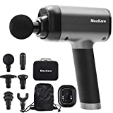 MaxKare Massage Gun for Athletes Portable Deep Tissue Percussion Muscle Massager Cordless Back Massager for Soreness Relaxation & 3 Modes 6 Interchangeable Heads 5 Speeds