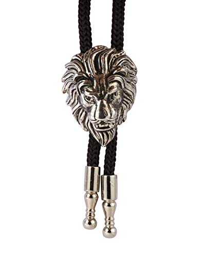 Knighthood Silver Lion Head Collar Accessories/Bolo Ties/Neck Ties Badge Coat Suit Wedding Gift Party Shirt Collar Accessories Brooch for Men