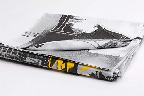 HomeLife - sprei voor eenpersoonsbed [160 x 280] en tweepersoonsbed [260 x 280] - Made in Italy - Multi-Purpose katoenen hoeslaken - Granfoulard Sofa Cover with New York Images