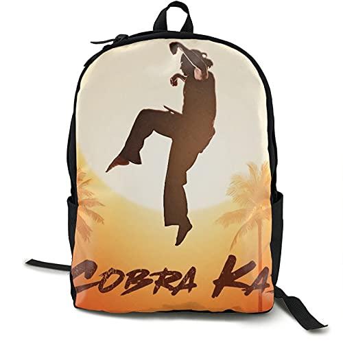 Cobra Kai Material Karate Durable Impermeable Viaje Grande Portátil Mochila Mochila Universitaria Mochila Librera para Mujeres y Hombres Mochila de Negocios