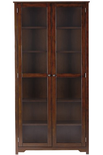 Home Decorators Collection Oxford 72' h Bookcase with Glass Doors, SIX SHELF/36,...