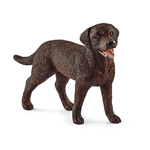 Schleich-13834 Perro Labrador Retriever Hembra, Color marrón (13834)