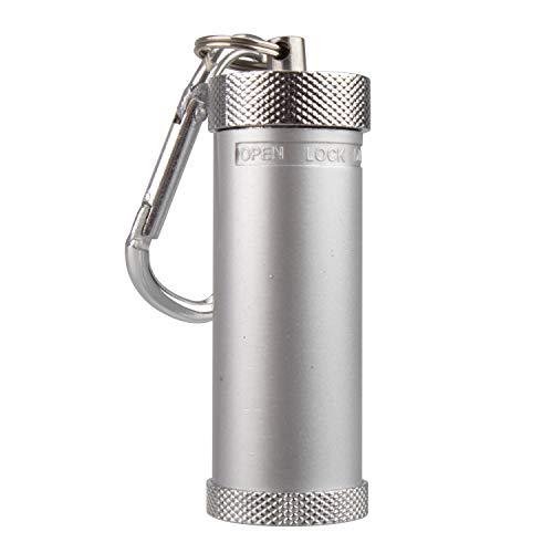 携帯灰皿 キーホルダー カラビナ付き 吸殻入れ おしゃれ スライド式 防水 便利 金属製 シルバー TEMLUM