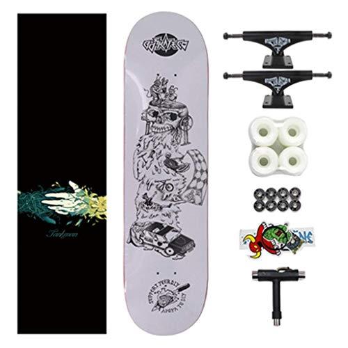 YXD Shortboard Skateboard Bilaterales abfallendes Plattenmontage-Skateboard Jungen und Mauml;dchen Erwachsene Anfauml;nger Straszlig;e Vierrad Skateboard