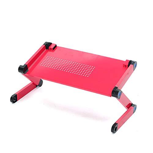 HSCDQ 1 Pieza Plegable Ajustable computadora portátil Mesa Mesa Stand Stand lap Sofa computadora portátil refrigeración Almohadilla exc.tq (Color : Rose Red)