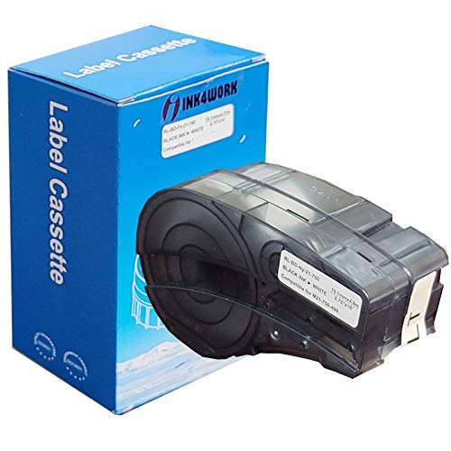 INK4WORK Compatible Label Replacement for Brady M21-750-499 Black on White...