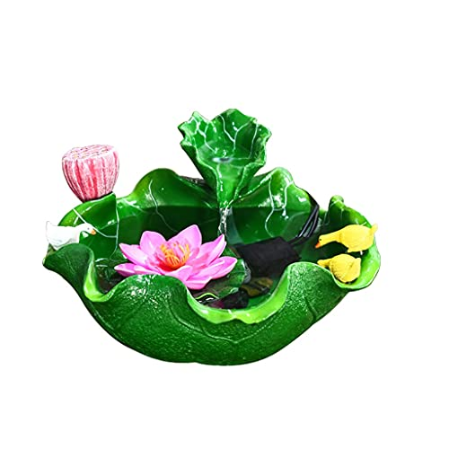 Lotus Desktop Fountain, Indoor Tabletop Fontein Bevochtiging, Home Woonkamer TV-kast Kleine Aquarium Decoratie Ornamenten Accessoires voor fonteinfonteinen in de tuin