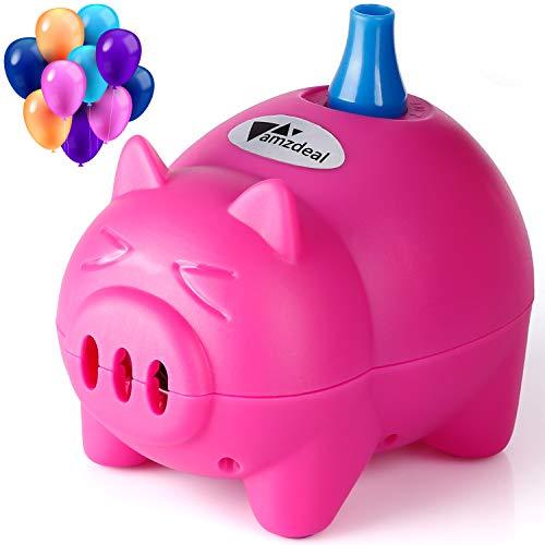 amzdeal Inflador Globo electrico para inflar Globos hinchador Globos electrico para Fiestas, Linda Forma de Cerdo