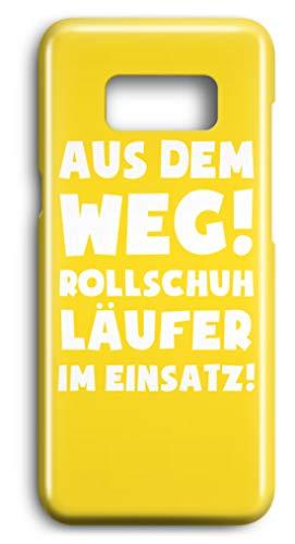 shirt-o-magic Handyhülle Rollschuhe: Rollschuhläufer im Einsatz! - Case -Samsung S8-Gelb