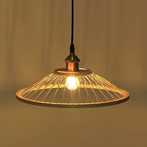 JIN Lámpara Colgante Útil Creativo Estilo Japonés Individual Chandeliers de Bambú, Luces de Restaurante, Lámpara de Escritorio Frontal Simple, Lámparas de Noche de Zen Chino, Luz, Luz Colgante