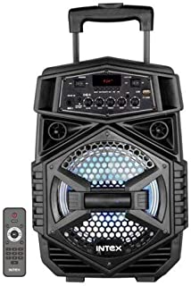 Intex T-200 Trolley Speaker Portable Wireless Bluetooth DJ Party Speaker with LED Lights Rechargeable