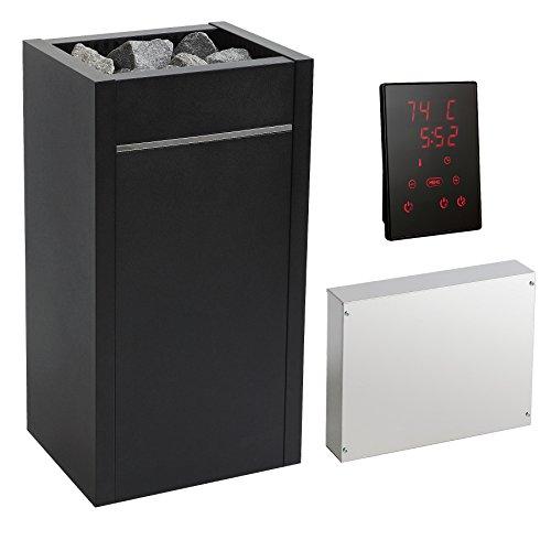 Saunaofen-Set Premium HARVIA VIRTA, Saunaofen 11 kW, inkl. Saunasteuerung mit Touch-Bedienfeld und 70 KG Aufguss-Saunasteine