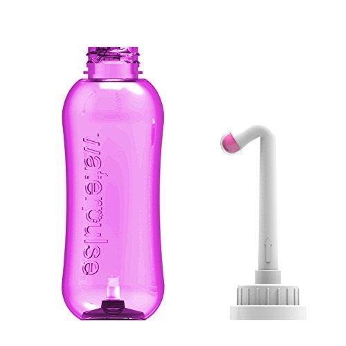 Wolfbeam Tragbarer Bidet-Sprayer für Badezimmer, WC, Bidet, Flasche mit Handheld-Vulva- und Analreiniger, Reise-Bidet, Spray für persönliche Hygiene, 2 Düsen, leicht, 500 ml