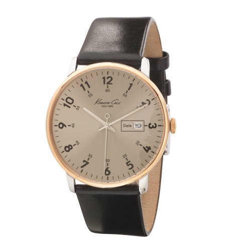 Kenneth Cole Reloj Analógico para Hombres de Cuarzo con Correa en Cuero 10008364