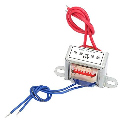 Transformador de potencia simple, AC 12V / 24V Voltaje de salida 2W Entrada 220V 50Hz Transformador de potencia(12V)