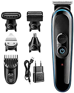 Mopoq 5 in 1 Electric Shaver Hair Trimmer Hair Clipper Shaving Machine Cutting Nose Beard Trimmer Men Razor
