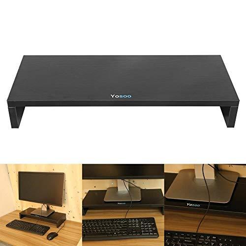 YANGSANJIN TV tafel, Houten Stand voor het verhogen van LCD TV Screen Monitor Computer Games Mac PC Laptop 50x20x7,7 cm