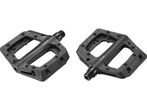 Voxom - Pedali Piatti per MTB Pe26 Nero, Corpo in plastica, ASSE CrMo, Cuscinetto Industriale, B311, m