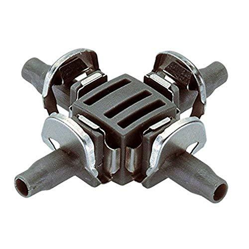 Gardena Pieza en Cruz 4,6 mm Blister de 10 derivaciones. Con el sistema de conexión Quick & Easy, Estándar