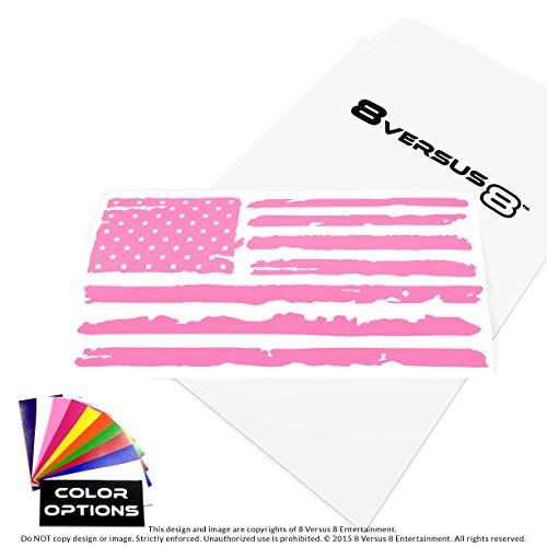 8 Versus 8 Distressed Flag Car Decal - Quantity: 1 - Indoors or Outdoors - Cars, Laptops, Windows, etc. (6.5