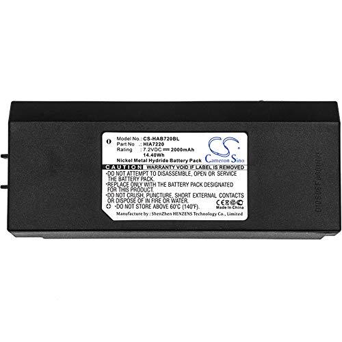 CS-HAB720BL Akku 2000mAh Kompatibel mit [HIAB] AMH0627, AX-HI6692, XS Drive, XS Drive H3786692, XS Drive H3796692 Ersetzt HIA7220