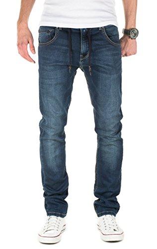 Yazubi Herren Sweathose in Jeansoptik Steve - Jogginghose in Jeans-Look, Dress Blues (4024), W29/L34