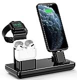 YFW - Estación de carga para Apple Watch, iPhone y Airpods, soporte para Apple Watch Serie 5/4/3/2/1, AirPods y iPhone 11/11 Pro, 11 Pro Max/Xs/X Max/XR/X/8/8 Plus