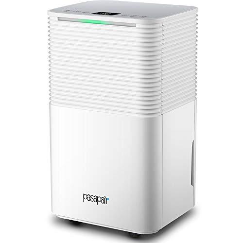 Deumidificatore Elettrico 12L/D, pasapair alta efficienza, serbatoio dell'acqua da 2L con modalità di asciugatura, filtro lavabile, camera da letto, guardaroba, cucina, ufficio, soggiorno