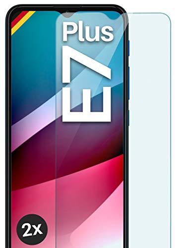 moex Panzerglas kompatibel mit Motorola Moto E7 Plus - Schutzfolie aus Glas, bruchsichere Bildschirmschutz Folie, Crystal Clear Panzerglasfolie, 2X Stück