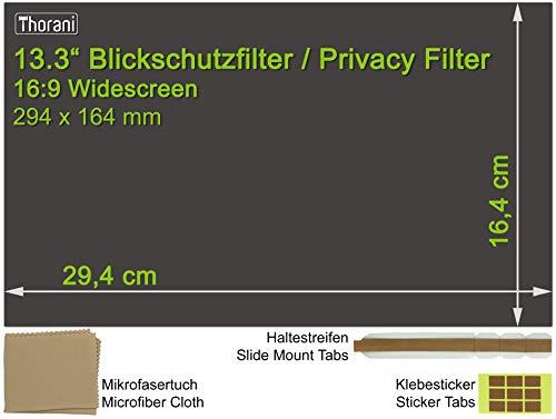 Thorani Laptop Notebook Privacy Filter Blickschutz Folie Sichtschutzfolie - 13.3 Zoll 16:9 Bildschirm