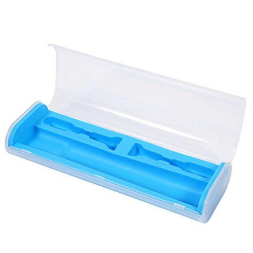 DOITOOL - Portaspazzolino da viaggio universale per spazzolino elettrico da viaggio da campeggio portatile (blu)