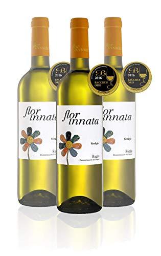 Nueva Añada Flor Innata Caja de 3, Vino Blanco Verdejo Rueda Valdecuevas, x3, 750 ml, Coupage Verdejo y Sauvignon Blanc