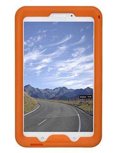 BobjGear - Carcasa resistente para tablet Samsung Galaxy Tab 4 8-pulgadas, modelos Wi-Fi (SM-T330), 3G (SM-T331), 4G modelos (SM-T335, SM-T337, SM-T337A), y otros modelos SM-T33... (No es para Tab A 8), funda protectora - (Naranja)