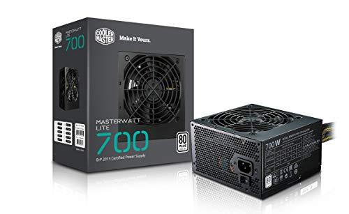 Cooler Master MasterWatt Lite 700 230V PC Netzteil \'Non-Modular, 80 Plus White, 700W\' MPX-7001-ACABW-EU (Generalüberholt)