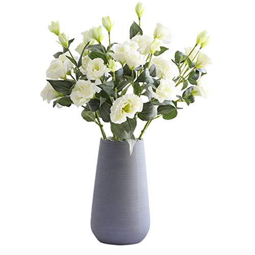 WYWY Künstliche Blumen mit Vase, Fälschung Silk Blumen Blumenarrangements for Home Hochzeit Bürocenter Dekoration (Color : A)