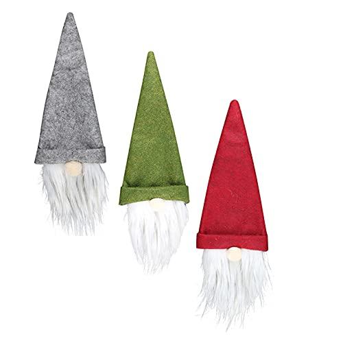 Steelwingsf Weinflaschen-Abdeckung, Anti-Haarausfall, wiederverwendbar, für Weihnachten, Partys, Urlaub, Weinflaschen, 3-teiliges Set für Restaurant, 3 Stück